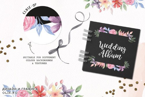 Embellish Watercolor Floral Borders - 3165344