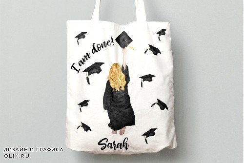 Graduation Clipart, GRADUATING GIRLS - 3759213