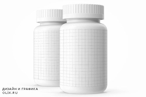 Pills Botle Vitamin Mockup - 3087467