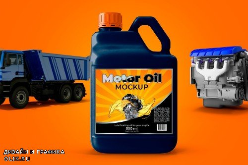 Bottle Motor Oil Mockup - 3748950