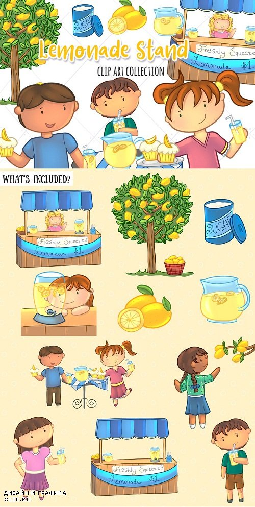 Lemonade Stand Clip Art Set - 1786372
