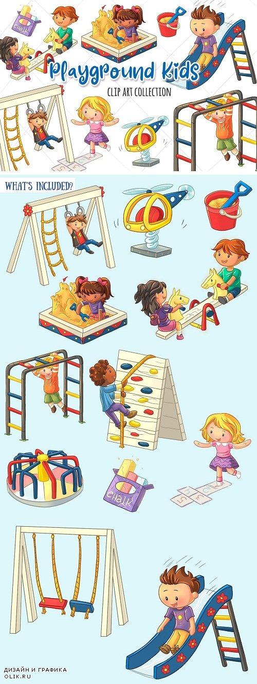 Playground Kids Clip Art Collection - 3760329