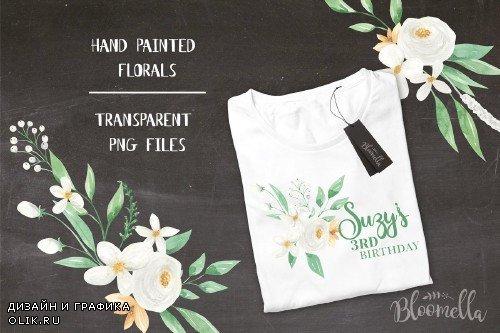 White Floral Bouquet Flower Set - 2639541