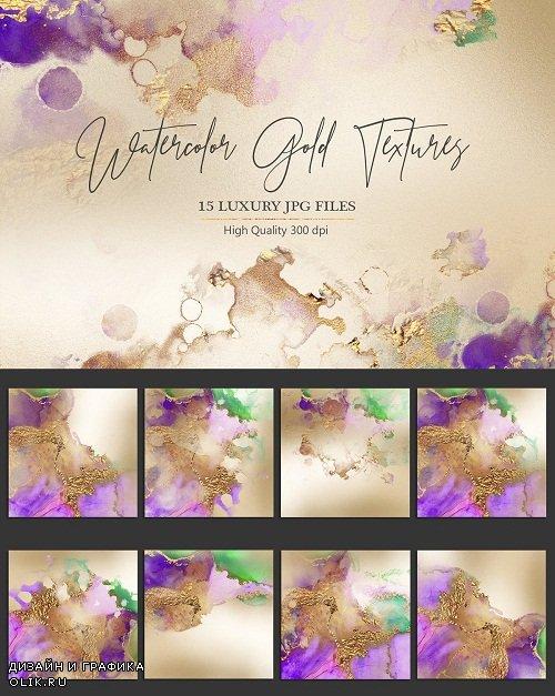 Watercolor Gold Textures - 2598016