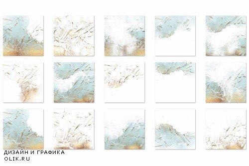 Blue Gold Paint Backgrounds - 2524554