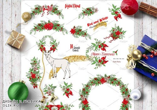 Red and White. Christmas Decorations - 1081534