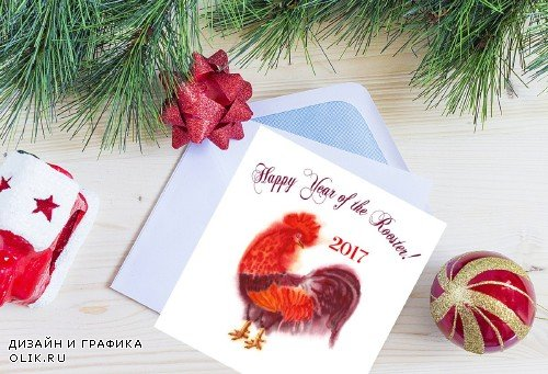 Red Watercolor Roosters - 1156495