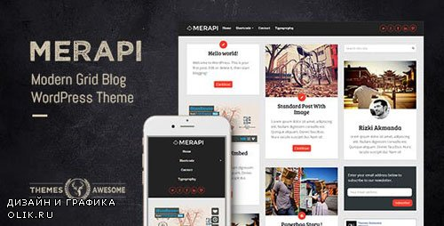 ThemeForest - Merapi v1.6 - Modern Grid Blog Theme - 7751809