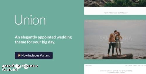 ThemeForest - Union v2.0.0 - Wedding and Event WordPress Theme for Variant & Visual Composer - 11552071