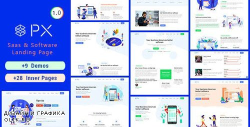 ThemeForest - PXaas v1.0.1 - App & Software Landing Page Theme - 23230063