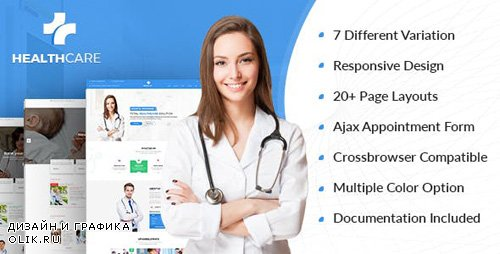 ThemeForest - Health Care v1.0 - Doctor Hospital Clinic Medical Responsive Website Template - 7771238