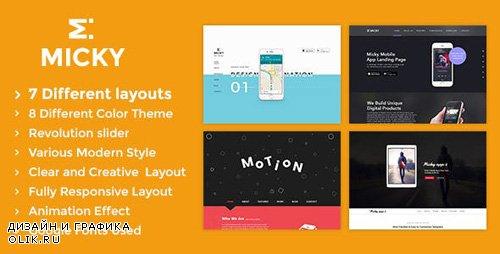 ThemeForest - Micky v1.2 - App showcase Template - 15983352