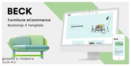 ThemeForest - Beck v1.0 - Furniture eCommerce Bootstrap 4 Template - 23765365