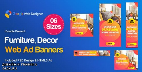 CodeCanyon - C01 - Furniture, Decor Banners Ad GWD & PSD - 23717649