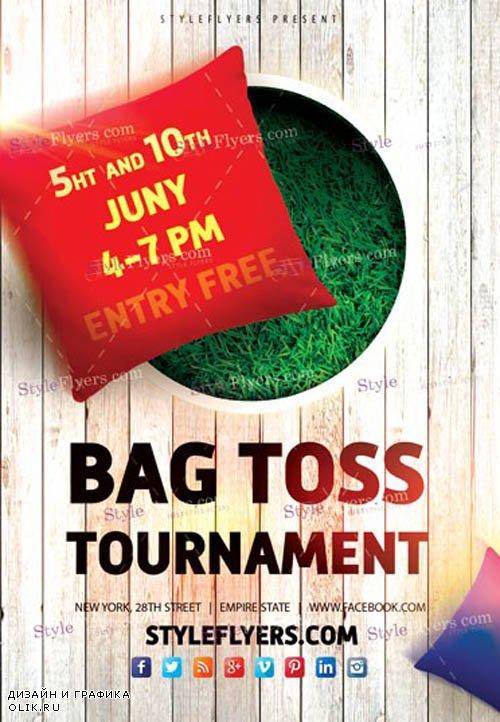 Bag Toss Tournament V1 2019 PSD Flyer Template