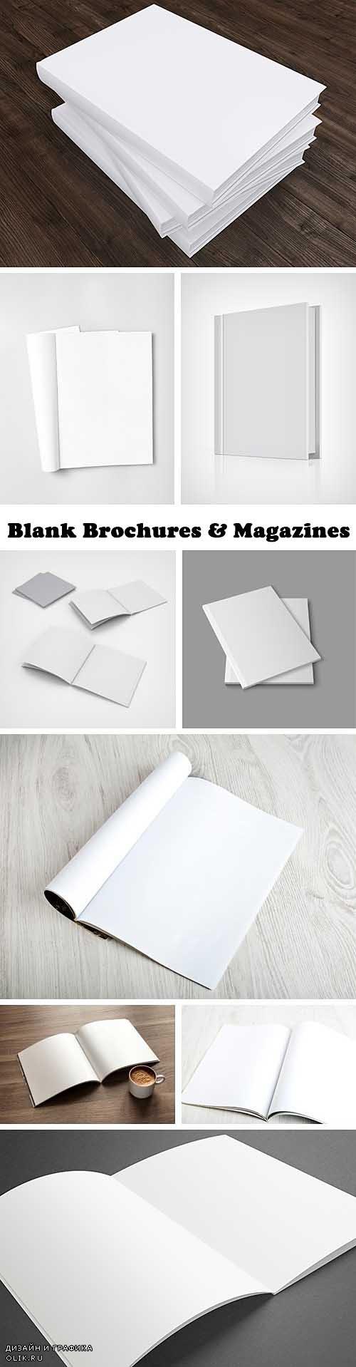 Blank Brochures & Magazines