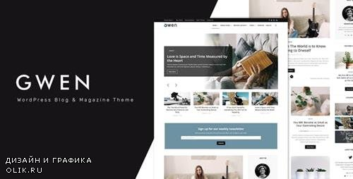 ThemeForest - Gwen v1.0 - Creative Personal WordPress Blog Theme - 23619535