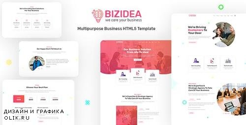 ThemeForest - Bizidea v1.0 - Multipurpose Business HTML5 Template - 23815681