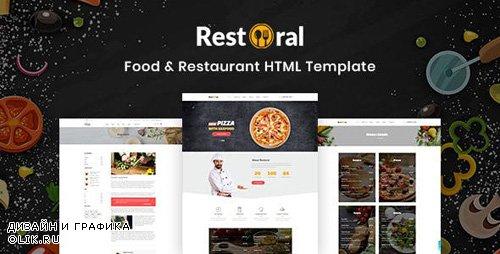 ThemeForest - Restoral v1.0 - Food Restaurant HTML Responsive Bootstrap 4 Template - 23814425