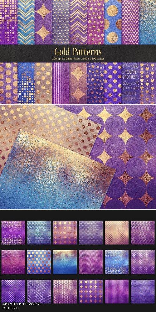 Gold Pattern & Foil Textures - 3585801
