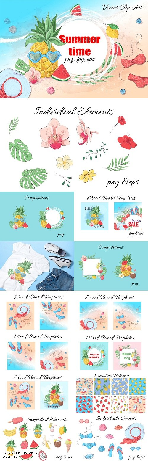 Summer time – vector clip art - 3771871