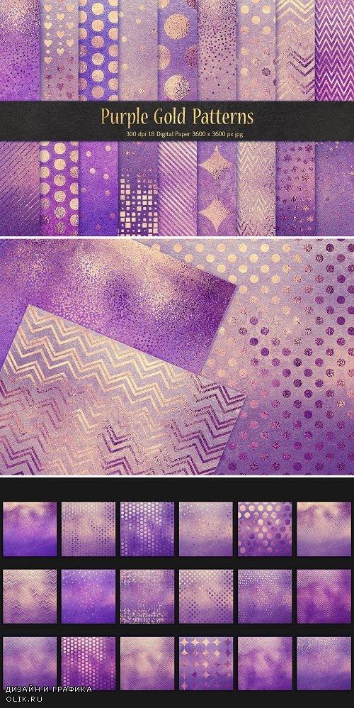 Purple Gold Pattern & Foil Textures - 3590033