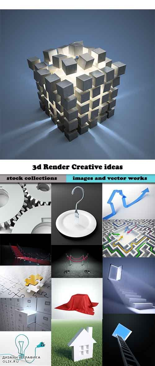 3d Render Creative ideas Stock images #2 - 25 HQ jpg
