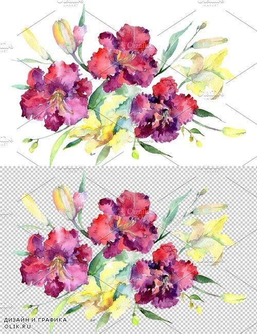 Bouquet Happy Watercolor png - 3788836