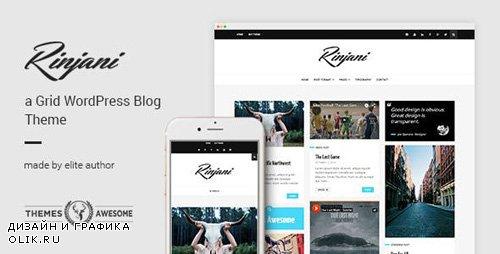 ThemeForest - A Responsive Grid Blog Theme - Rinjani v1.6 - 13307715