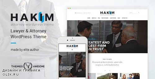 ThemeForest - Attorney and Lawyer WordPress Theme - Hakim v1.3 - 15881657