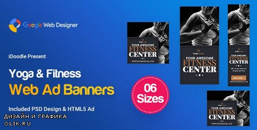 CodeCanyon - C28 - Yoga & Fitness Banners HTML5 - GWD & PSD - 23843478