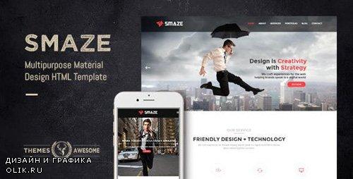 ThemeForest - Smaze v1.0 - Multipurpose Material Design HTML Template - 10699932
