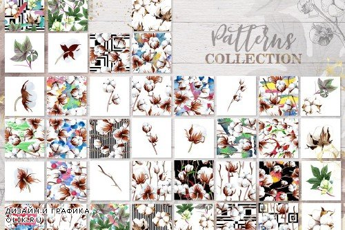 Cotton collection EPS, PNG, JPG, SVG - 3083014