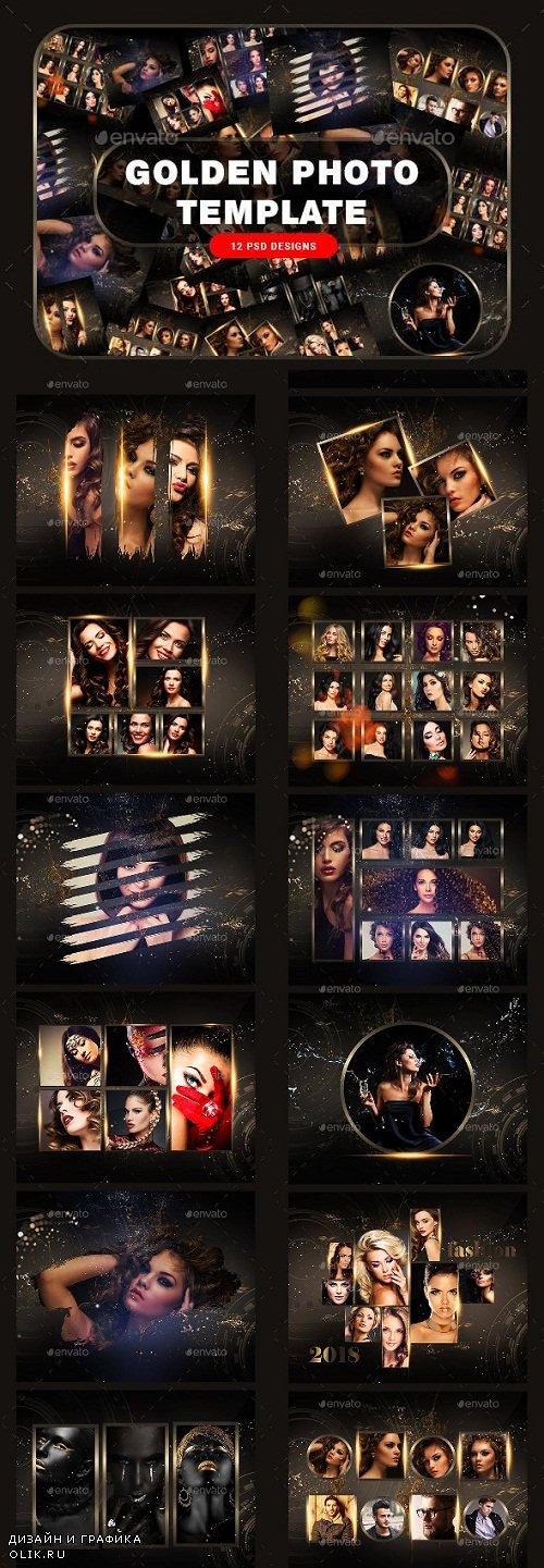 Golden Photo Frame Template 23817622