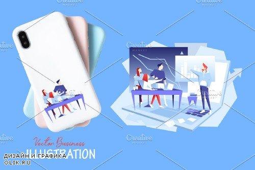 Marketing team Vector Design Set - 3800944