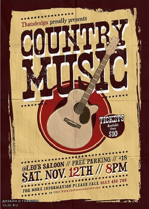 Country Music Flyer Template V3 - 3800781