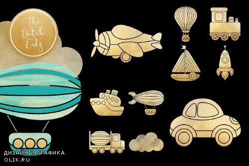 Transportation & Travel Clipart Set - 3798616
