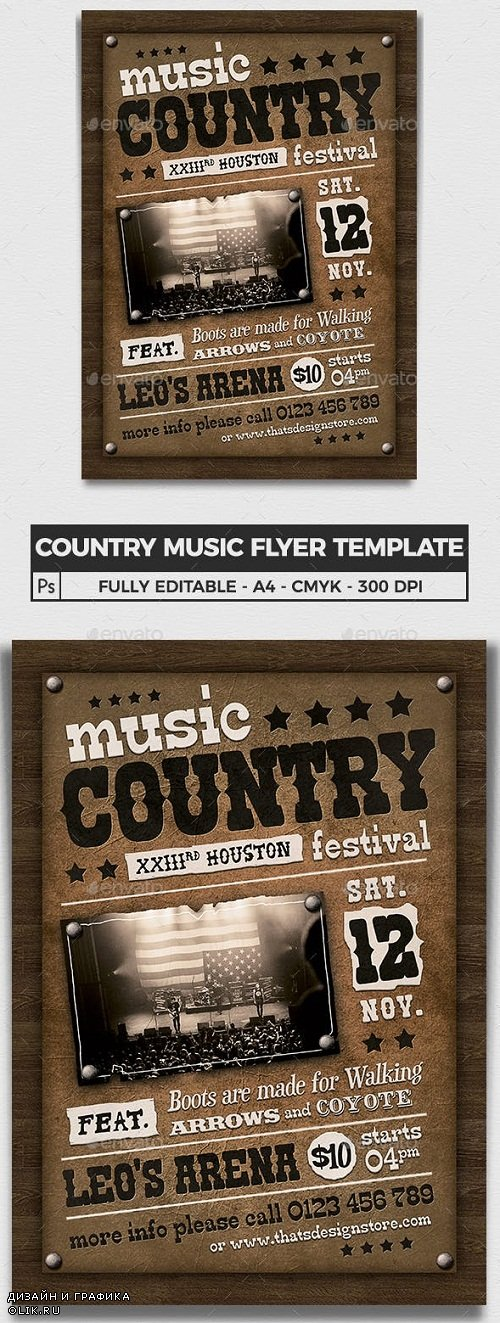 Country Music Flyer Template V2 - 23820005 - 3776010