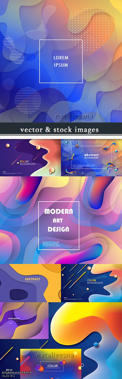 Abstract gradient geometrical dynamic background elements