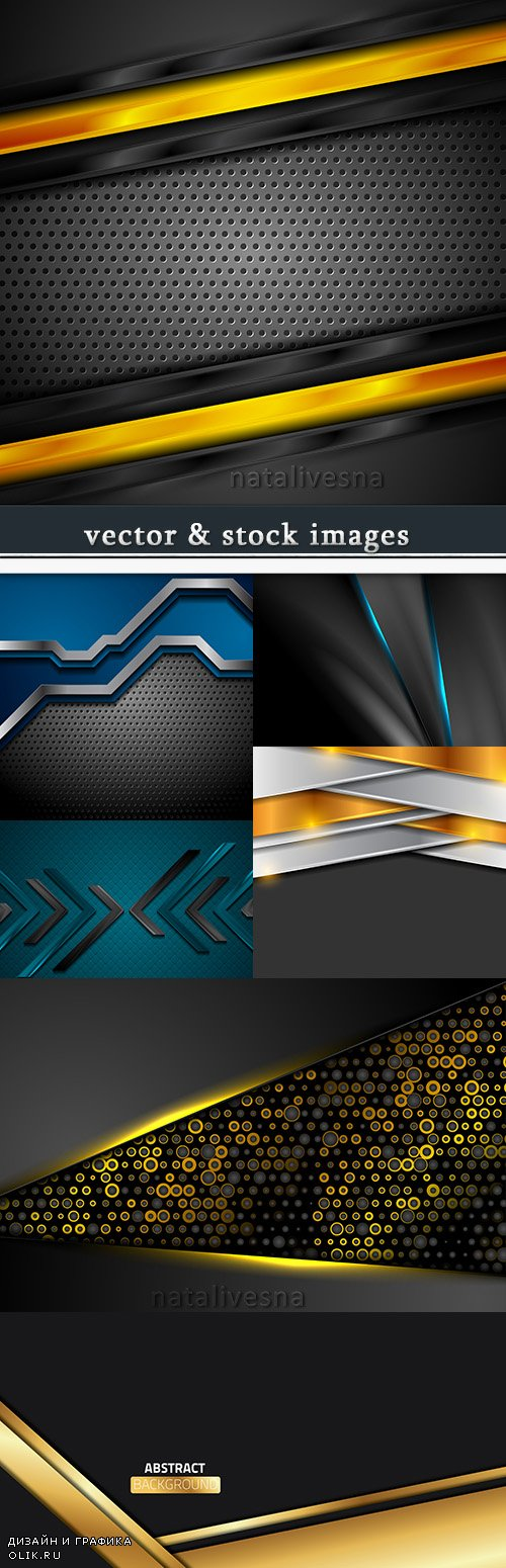 Decorative background with gold and blue design