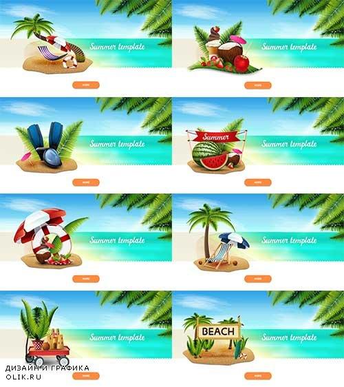 Здравствуй лето - 8 - Векторный клипарт / Hello summer - 8 - Vector Graphics