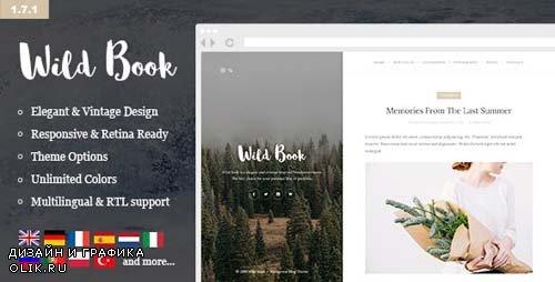 ThemeForest - Wild Book v1.7.11 - Vintage & Elegant WordPress Blog Theme - 10962274