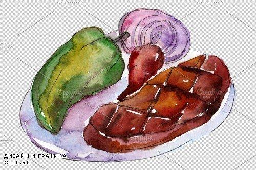 Watercolor Steaks PNG - 3808307