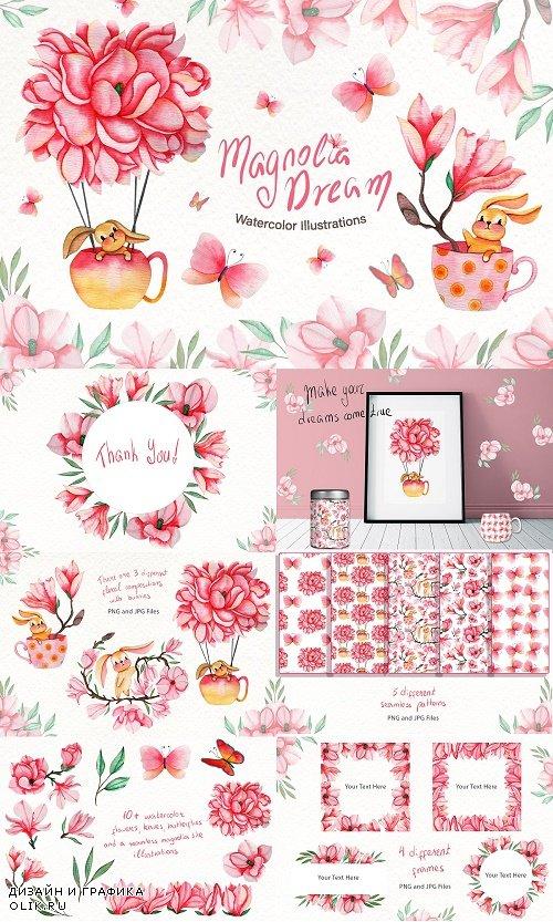 Magnolia Dream - Watercolor - 3806068