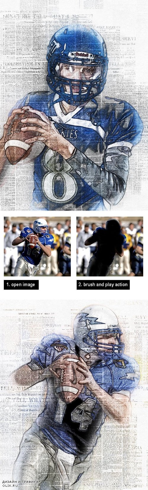 Amazing Journal Art Photoshop Action Vol 1 23629537
