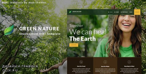 ThemeForest - Green Nature v1.0 - Environmental HTML Template - 23558293