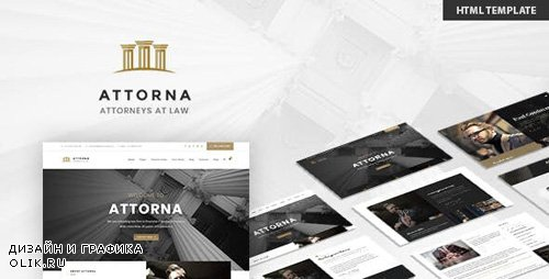 ThemeForest - Attorna v1.0 - Lawyer & Attorney HTML Template - 23686422