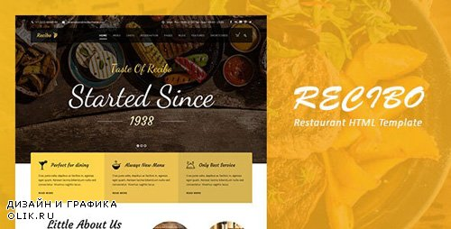 ThemeForest - Recibo v1.0 - Restaurant / Food HTML Template - 23758795