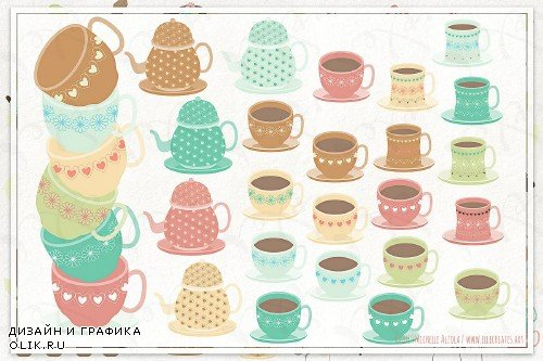 Tea Party 01 Clipart & Vector - 3810131