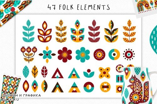 Nordic Animals - Folk Set - 3234949